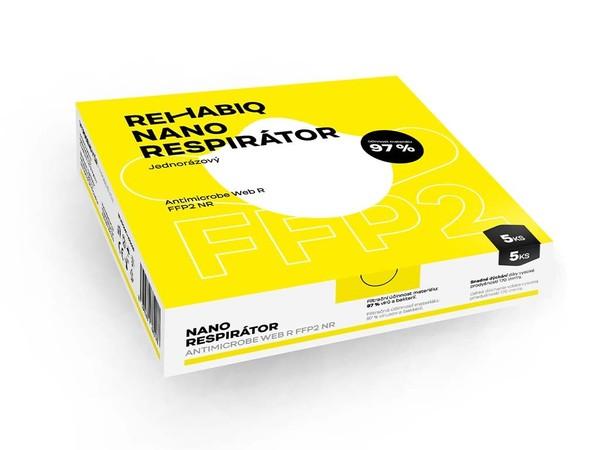 Rehabiq nano respirátor FFP2, 5 ks
